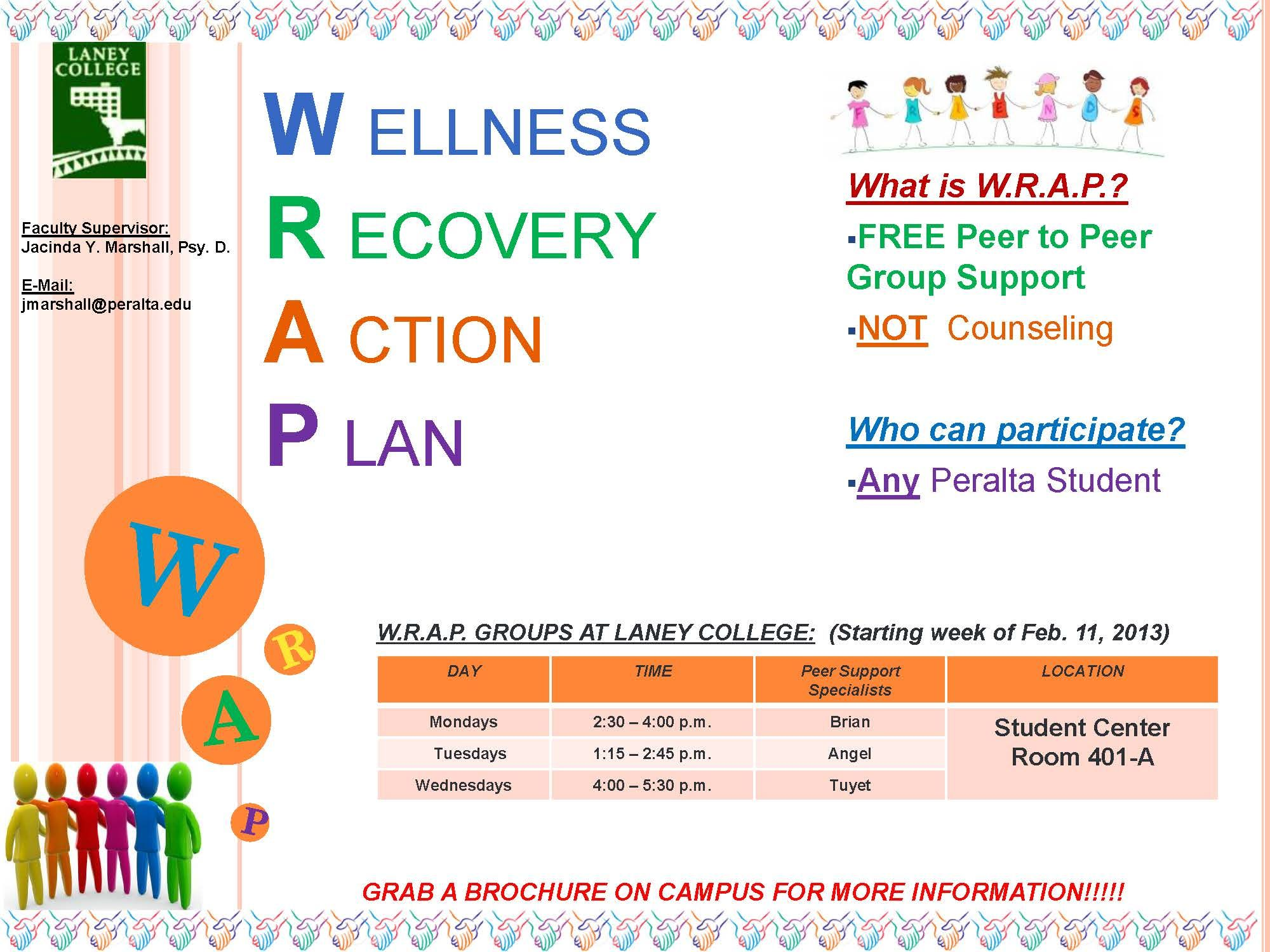 Sample Wrap Wellness Recovery Action Plan Images  Frompo  Wrap
