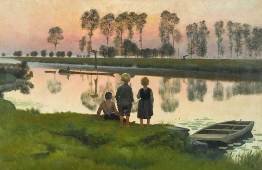 The Passing Boat - Emile Claus