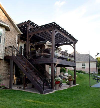 timber frame shadescape pergola deck - Timber Frame Shadescape Pergola Deck Pergolas, Pavilions, Arbors