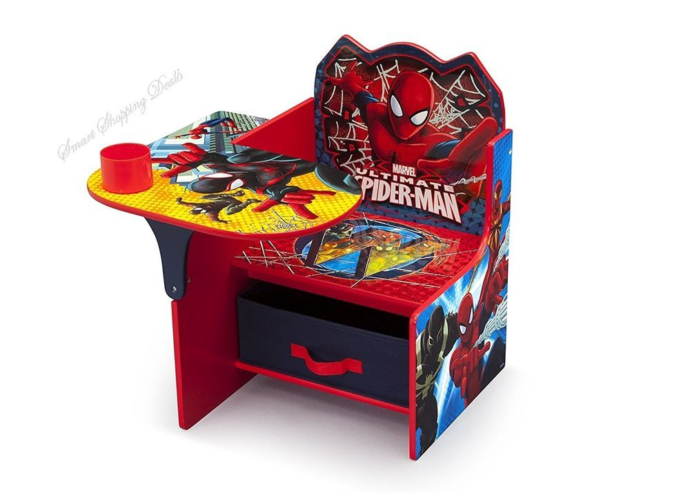 Enjoyable Spiderman Chair With Desk With Storage Toddlers Chairs Small Pdpeps Interior Chair Design Pdpepsorg