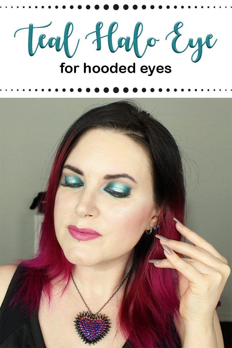 Hooded Eyes Teal Blue Halo Eye Makeup Tutorial Halo eye