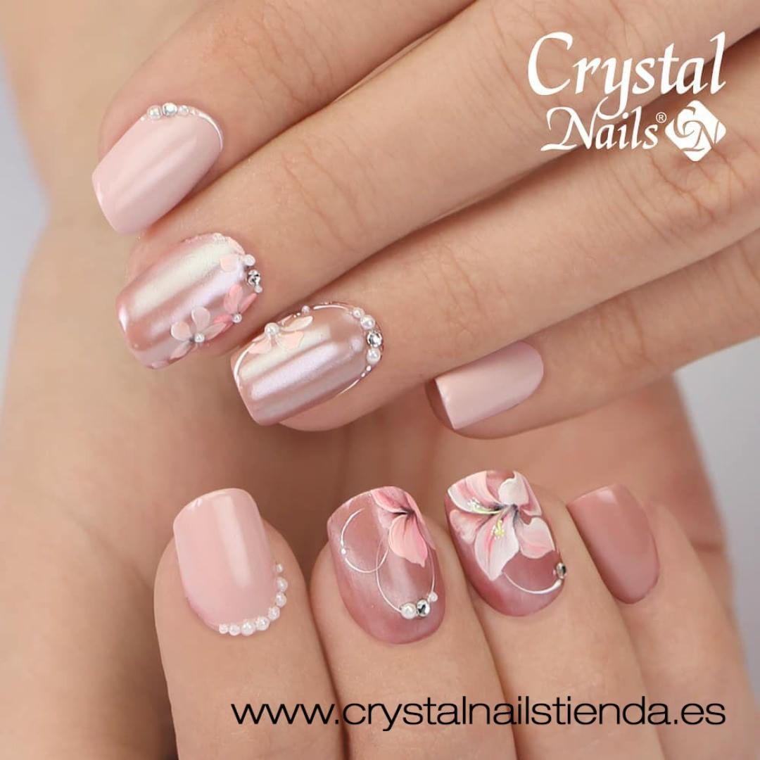 Gel Painting Ojo De Tigre Pigmento White Pearl Nails Nailart