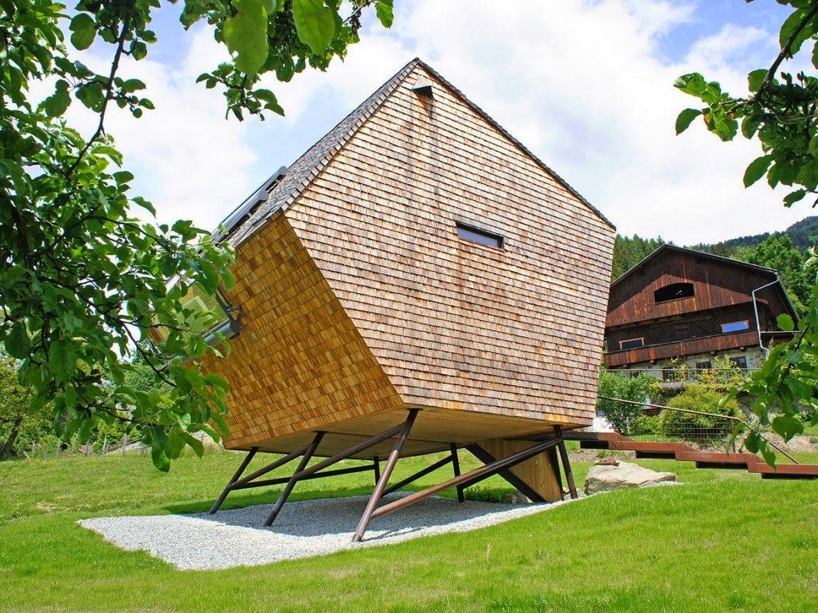 Ufogel, casa de madera prefabricada de 45 m2 en Austria|Espacios en madera