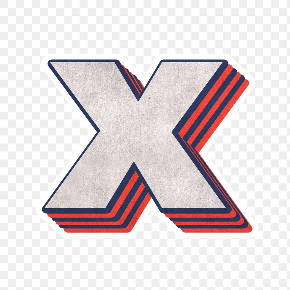Letter X Png Layered Effect Alphabet Text Free Image By Rawpixel Com Cuz Free Illustrations Free Png Lettering