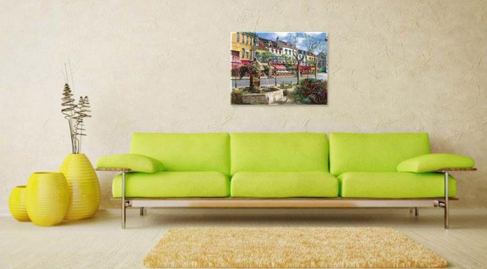Картина по номерам «Европейский городок» Сунг Сэм Парка ...