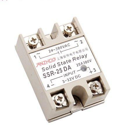 $8.42 (Buy here: https://alitems.com/g/1e8d114494ebda23ff8b16525dc3e8/?i=5&ulp=https%3A%2F%2Fwww.aliexpress.com%2Fitem%2FSSR-25-DA-25A-solid-state-relay-DC-control-AC%2F32731147680.html ) SSR - 25 DA  25A solid state relay DC control AC for just $8.42