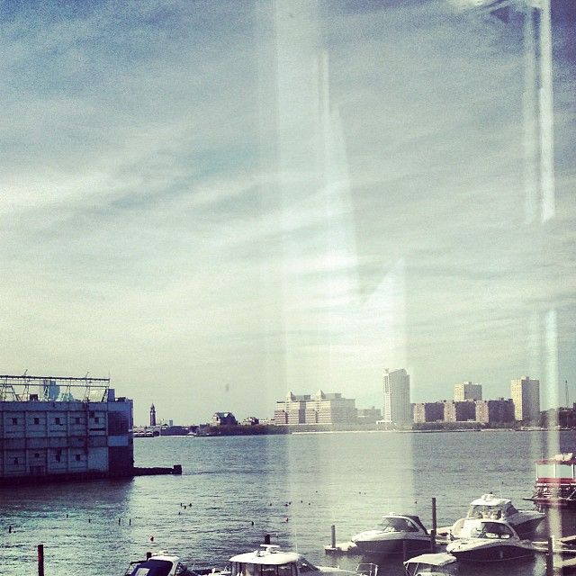 The sun shines bright in NY while shooting Marella SS14 advertising campaign! #marella #newyork #riverhudson