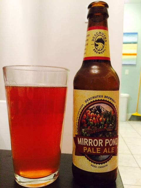 Beer #25. 12/31/14. Mirror Pond Pale Ale. Deschutes. An orangy ale with a friendly taste. I love me a pale ale, it's my go-to beer choice. This one is comparable to the very drinkable Manny's so widely popular in Seattle. 3.5 Stars.