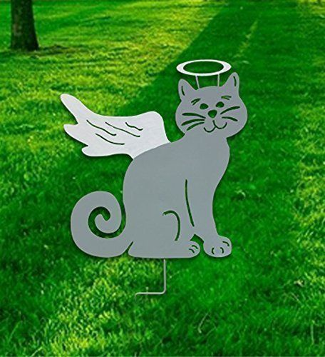 Etonnant Cat Angel Garden Stake Or Wall Hanging (Hand Painted). This Handcrafted,  Hand