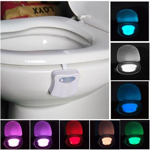5 74 8 Colors Indoor Lighting Night Lights Motion Sensor Led
