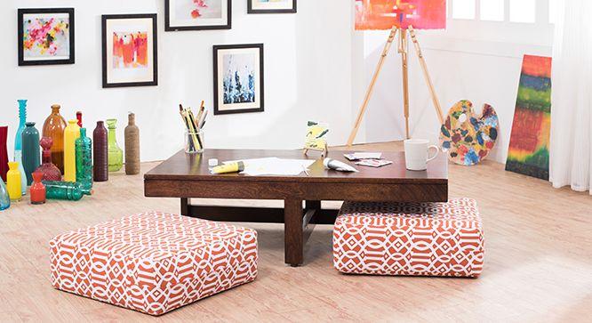 zabu coffee table with floor cushions