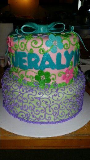 My custom Princess Theme cake