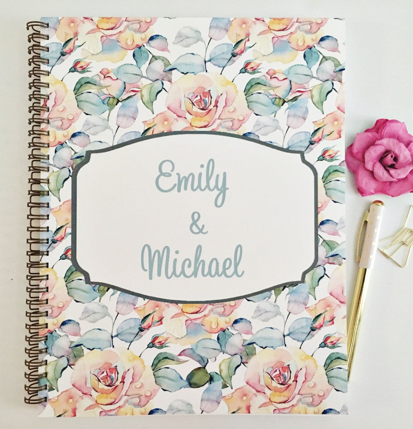 Personalized Wedding Planner Custom wedding planner new cover
