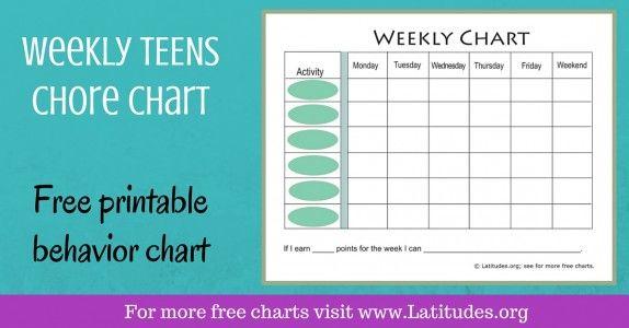 FREE Printable Behavior Charts for Home and School Behaviour chart - printable behavior charts for home