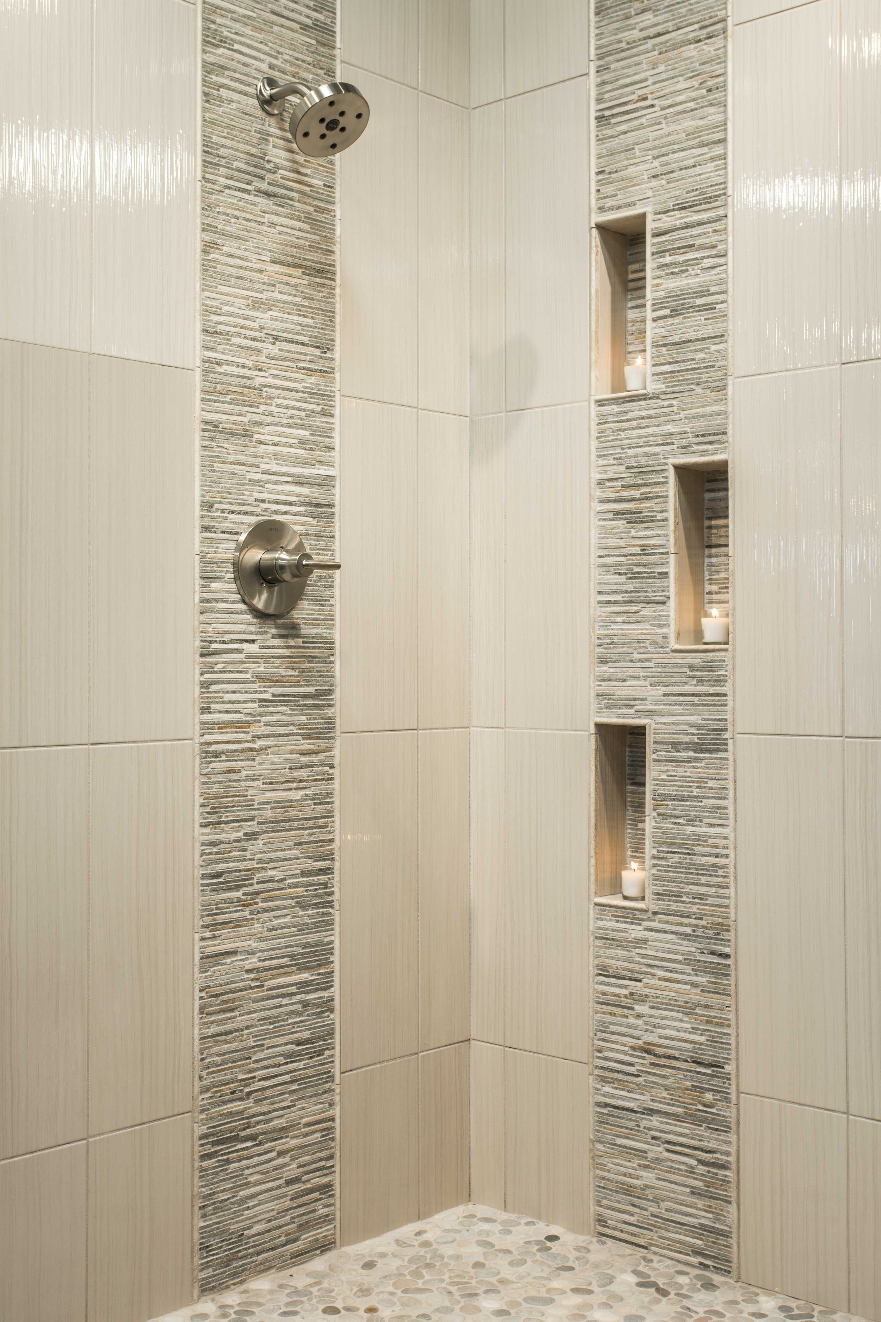 Bathroom shower tile - … | Future home... | Pinte…