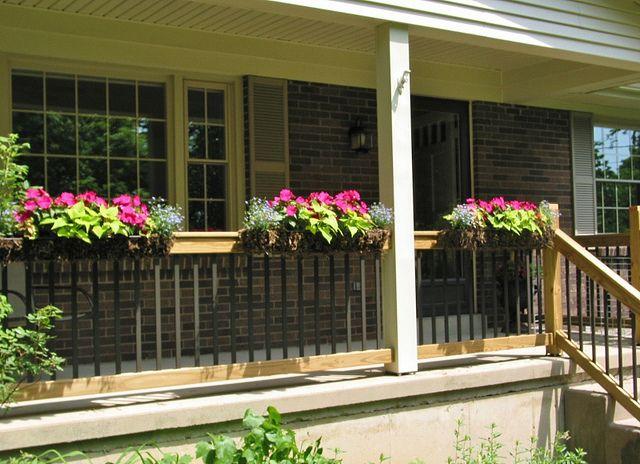Front Porch Flower Boxes Front Porch Flowers Porch Flowers Front Porch Railings