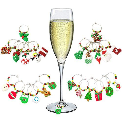 Hraindrop 24-Pieces Wine Glass Charms