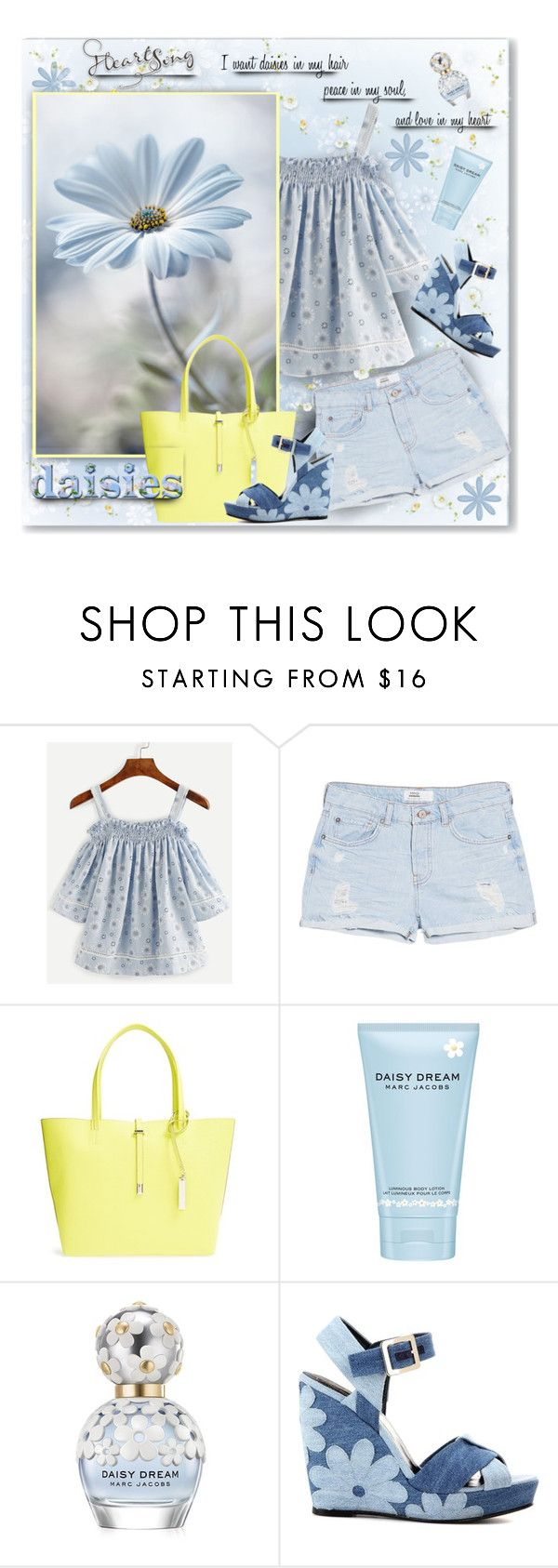 """""""Daisies in My Hair"""" by daiscat ❤ liked on Polyvore featuring MANGO, Vince Camuto, Marc Jacobs and Roger Vivier"""