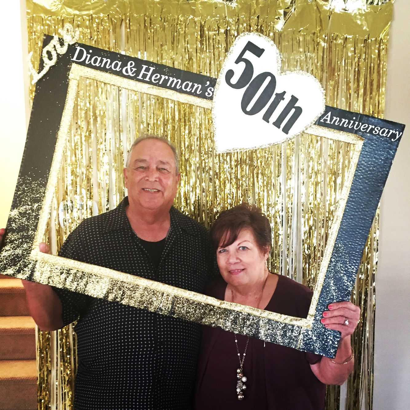 50th Anniversary Photo Booth Fun Diy Frame Diy Fetes