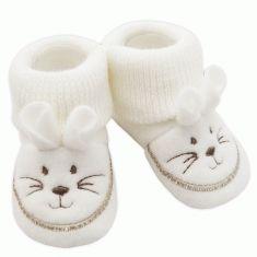 chaussures de séparation 359e6 01f36 Chaussons bébé mixte en polaire Souris blanc   vetement bébé ...