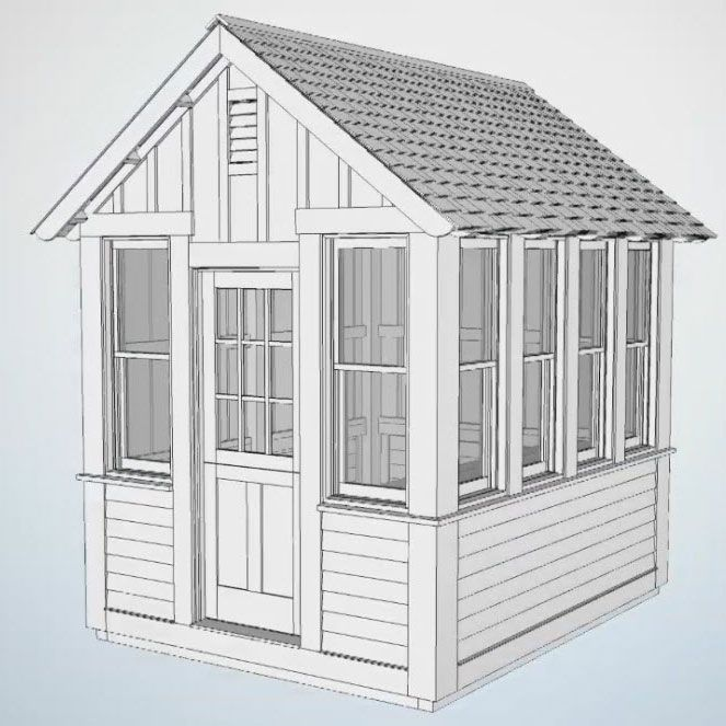 How to Build a Garden Shed. This shed has no stud walls, no asphalt ...