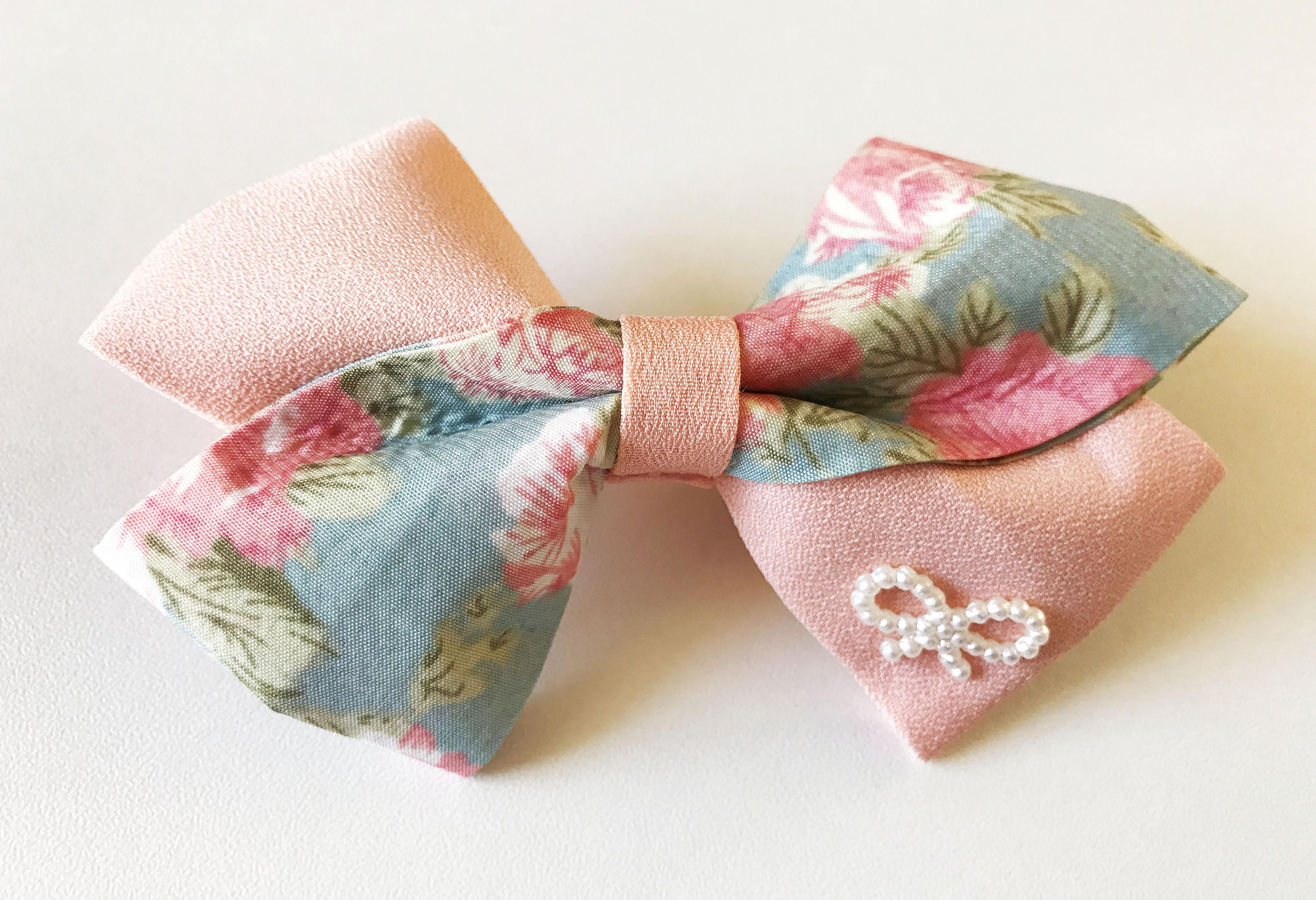Baby Girl Floral Bows Fabric Bow Hair Clips For Girls