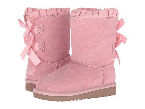 e36886a47ae UGG Kids Bailey Bow Ruffles (Toddler/Little Kid) Baby Pink - Zappos ...