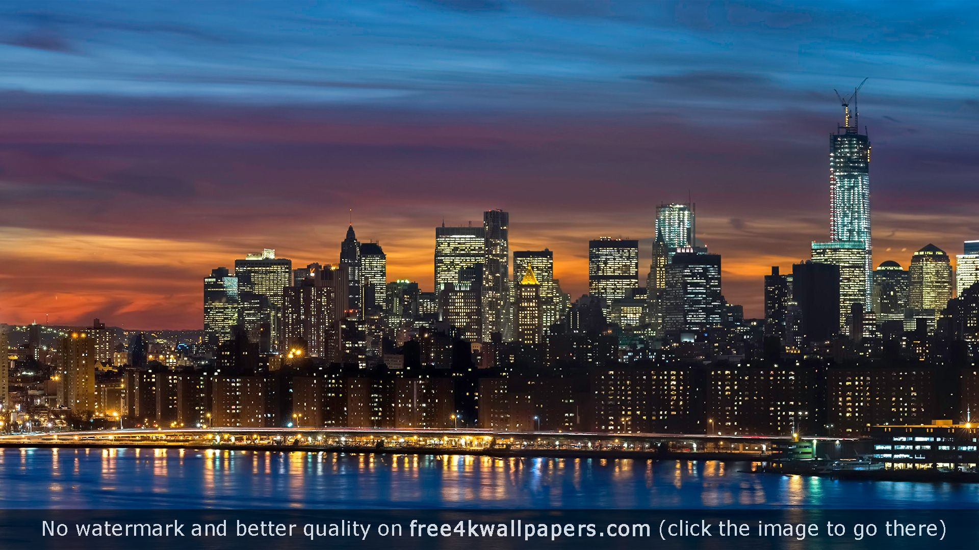 Manhattan Skyline New York Panorama Hd Wallpaper Manhattan Skyline Skyline Sunrise Wallpaper