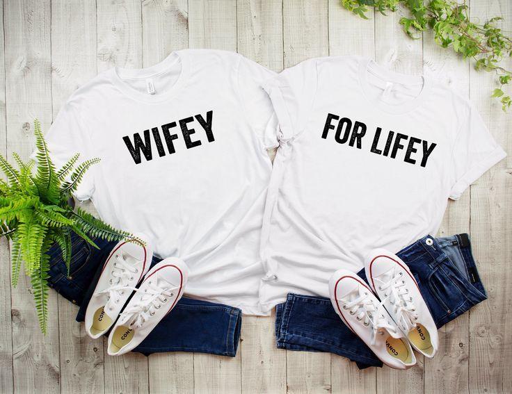 Wifey for lifey, wifeys for lifey, lesbian wedding, two brides, gift for two brides, gift for lesbian wedding, lgbt shirt, pride shirt