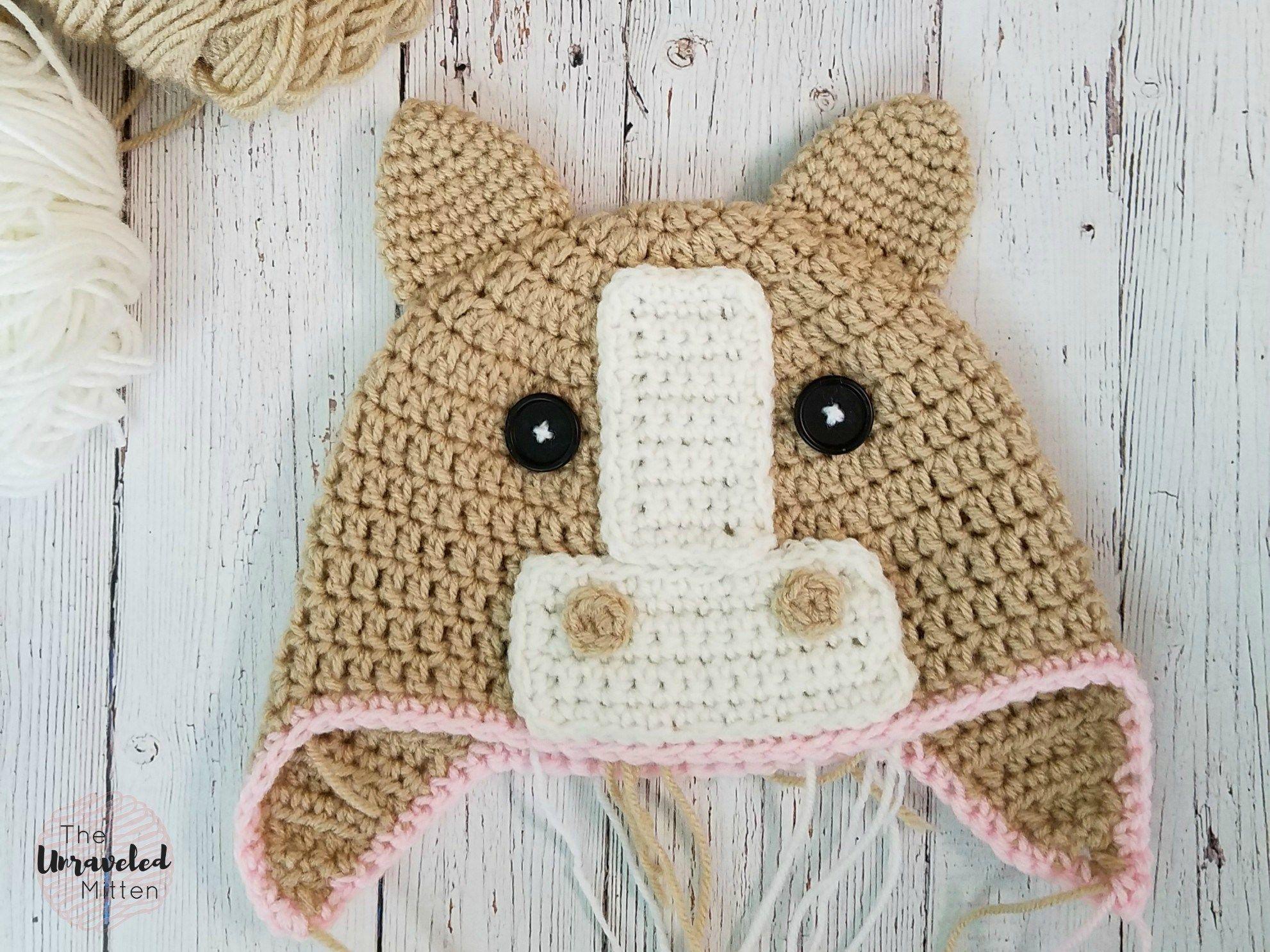 The Callie Horse Hat: Free Crochet Pattern | Crochet horse, Free ...