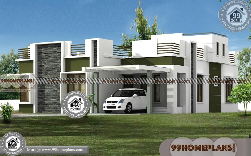 Modern Single Story House Plans With Exterior Images Below 2500 Sq Ft Amazing Low Cost Plans Free Small House Plans Indian House Exterior Design House Plans