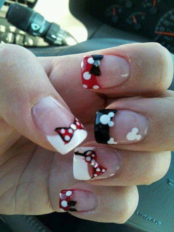 Mickey Nails   Nails   Pinterest   Diseños de uñas, Arte uñas y Arte ...