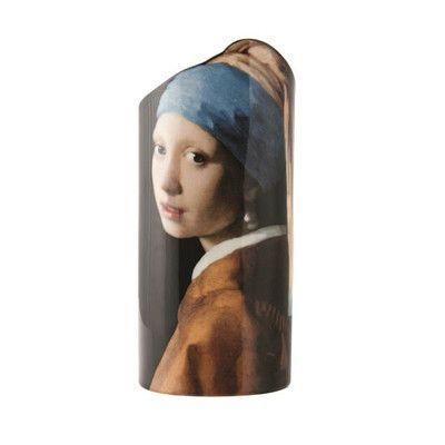 Dartington Silhouette de Art Johannes Vermeer Girl with Pearl Earring Porcelain Vase