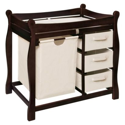 Badger Basket Changing Table With Hamper And Baskets Espresso Badger Basket Baby Changing Tables Changing Table