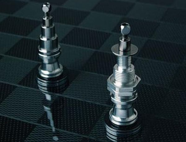 projects ideas metal chess pieces. 7 Unique nut and bolt chess sets recycling hardware waste  Chess