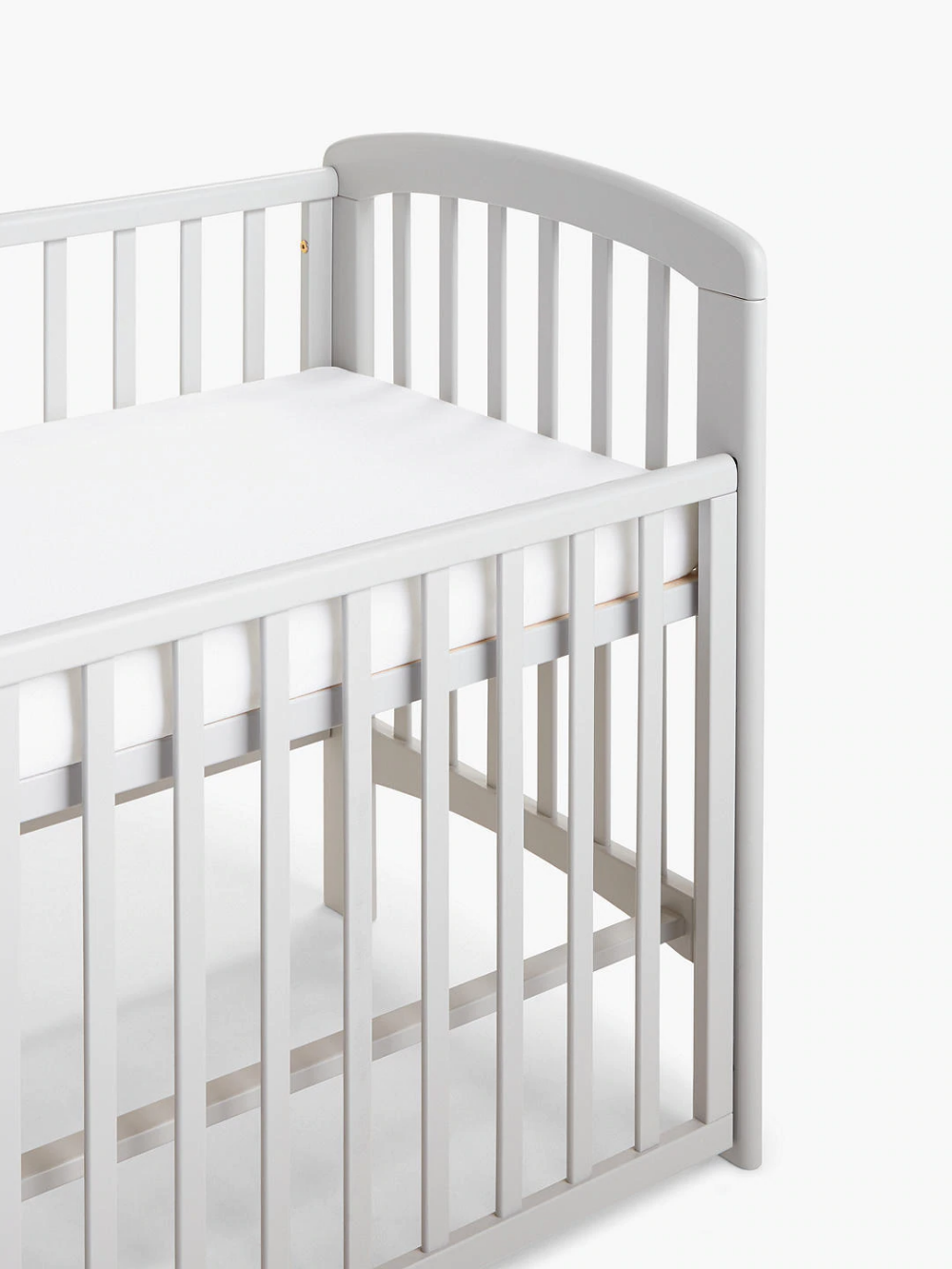 John Lewis & Partners Anna Dropside Cot, Grey in 2020
