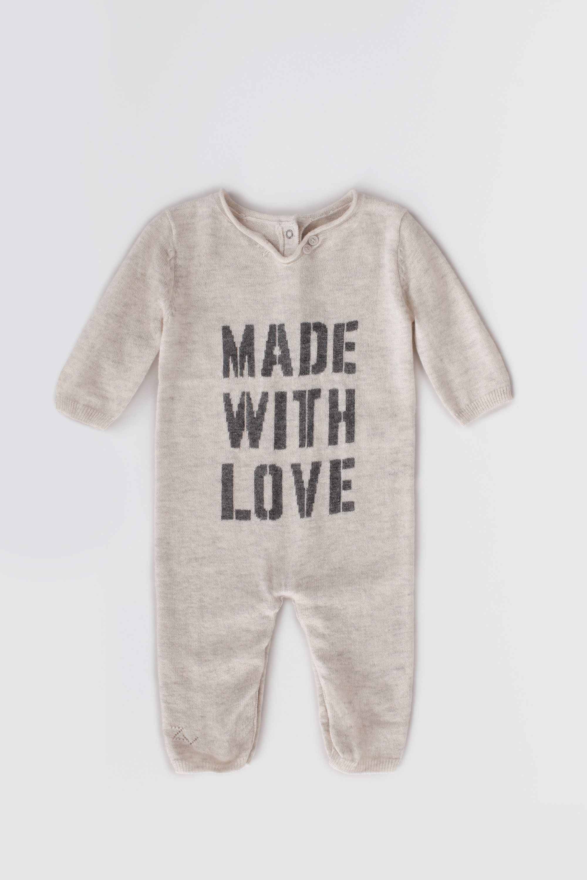 1160cc3c0cc2 baby romper - made with love