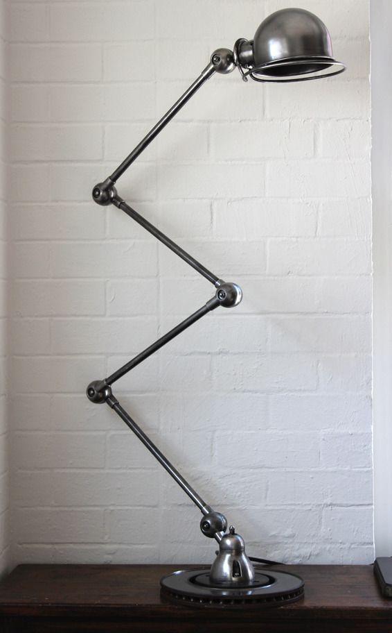 Flywheel — Industrial French Jieldé table or floor lamp