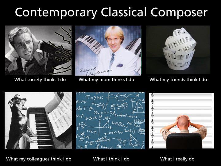Contemporary Classical Composer Music Jokes Music Humor Classical Music Humor