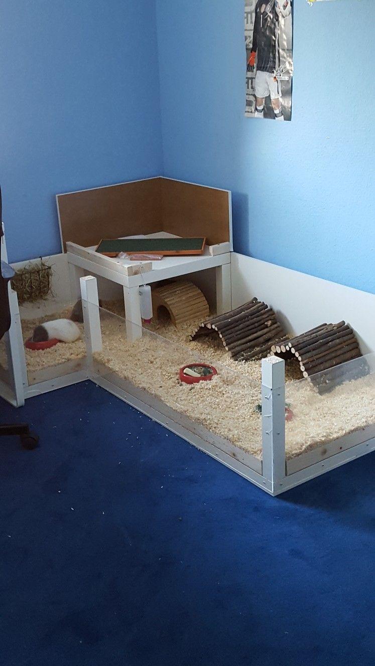 SchweiniKäfig aus IKEA Tischen Meerschweinchenstall