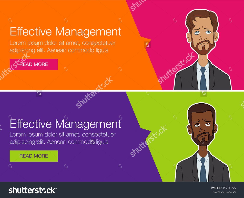 Vector Template Banner For Website Header Advertisement Cartoon