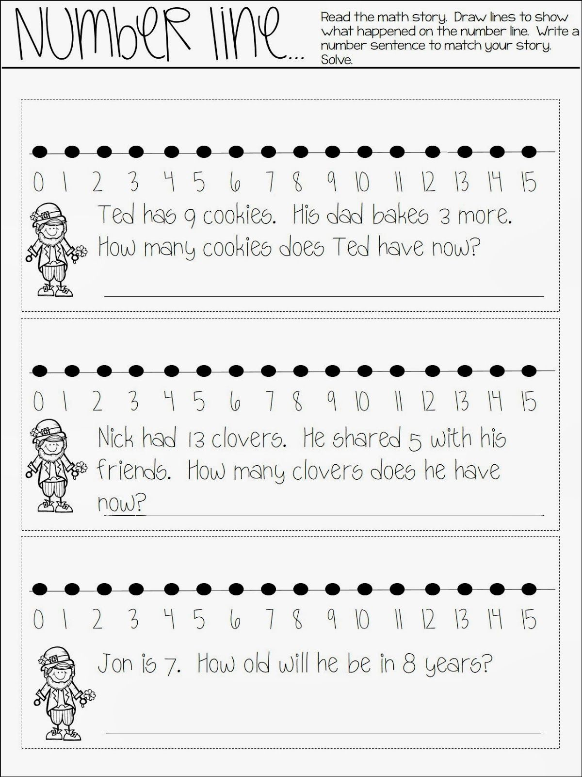 small resolution of FREE math journal entry! This number line freebie can be used in math  journals