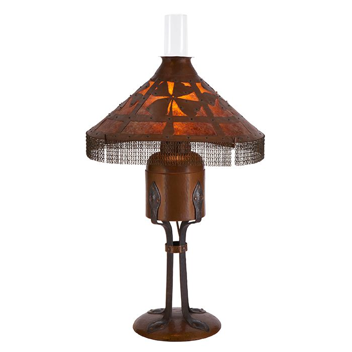 Gustav Stickley Table Lamp With Shade