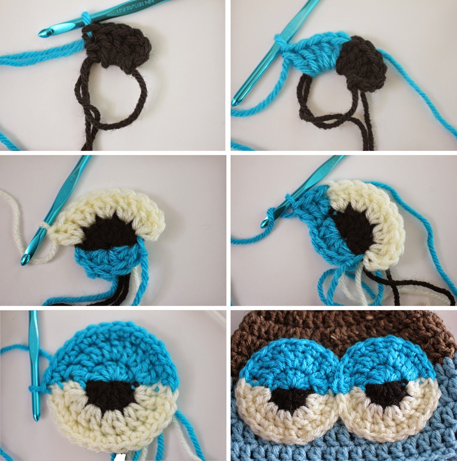 Como hacer ojos de bho medio cerrados repeat crafter me repeat crafter me crochet drowsy owl hat pattern to make sleepy eyes bankloansurffo Gallery