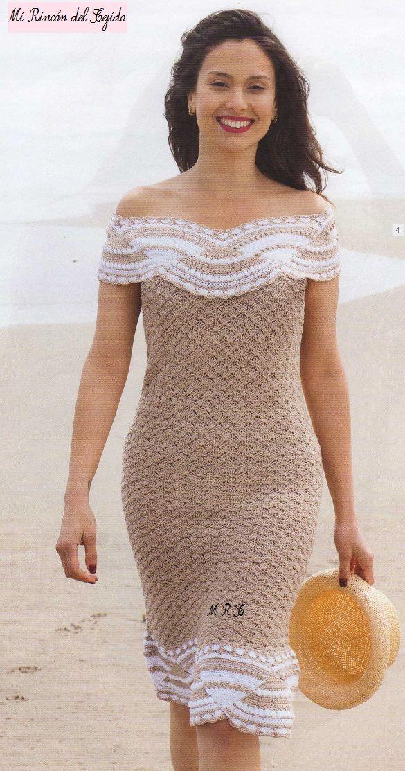 ❤ ✿ Mi Rincón del Tejido ✿ ❤: Hermoso vestido a crochet con ...
