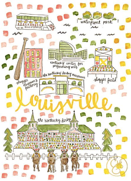 Louisville Map Print by EvelynHenson on Etsy | horsing around ...
