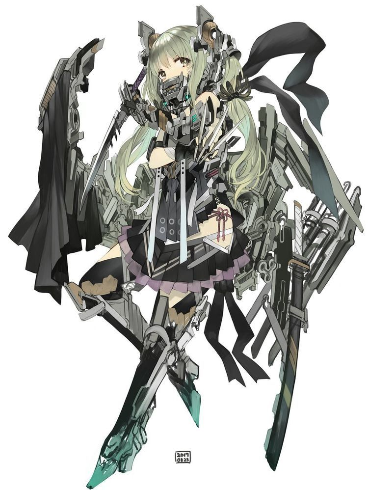 Pin By Anime Otaku On Frame Arms Girl Character Art Anime