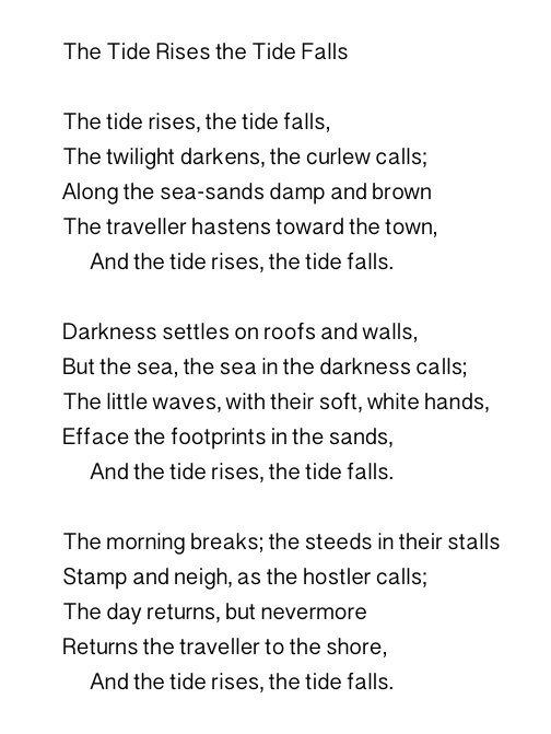 the tide rises the tide falls poem