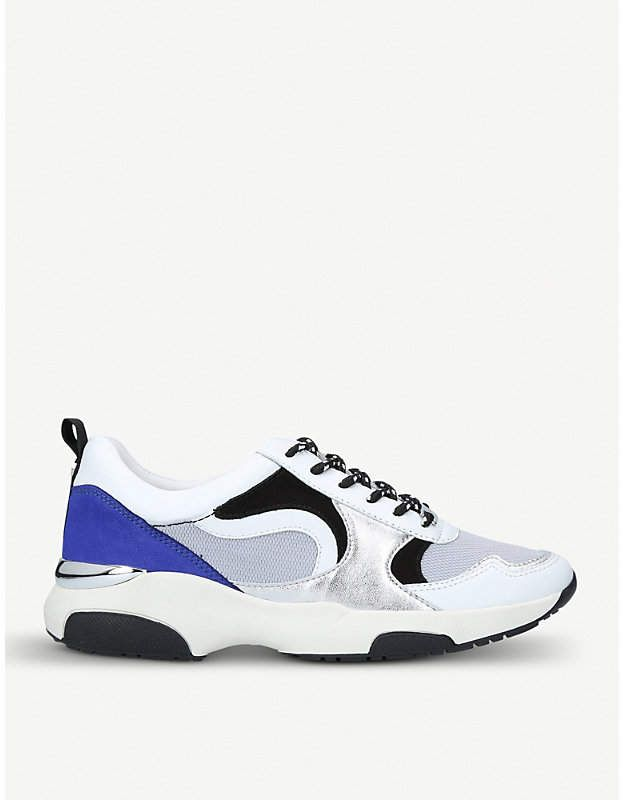 CARVELA Linton mesh and suede trainers