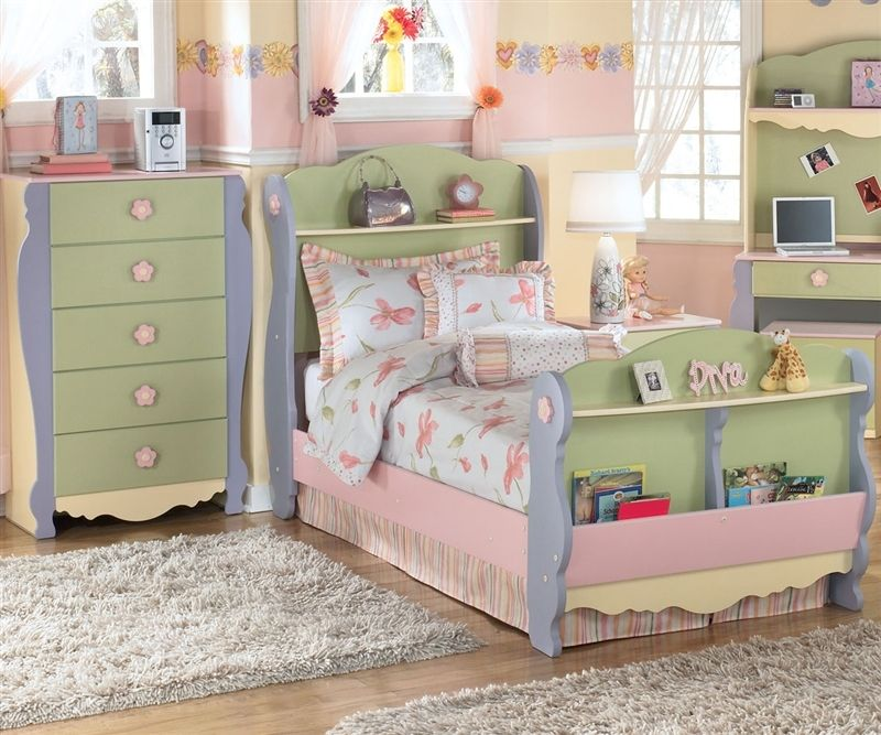 Ashley Furniture B140 62 Doll House Sleigh Bed Twin Size Kids Dollhouse Sleigh Bed With Sto Girls Bedroom Sets Childrens Bedroom Furniture Kids Bedroom Sets